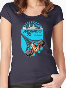 Monaco Grand Prix Poster Women's Fitted Scoop T-Shirt