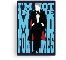 Quotable Who - Third Doctor Canvas Print