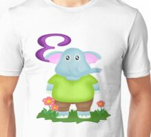 E is for Elephant Unisex T-Shirt