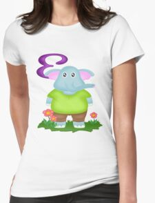 E is for Elephant Womens Fitted T-Shirt