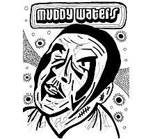 Muddy Waters Comic Illustration Sketch Photographic Print