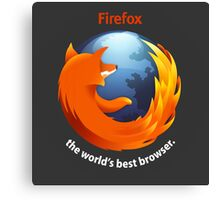 Firefox - The world's best Browser Canvas Print