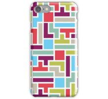 Tetris with pop colors iPhone Case/Skin