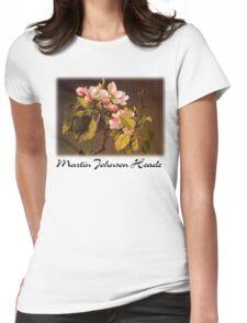 Martin Johnson Heade - Apple Blossoms Womens Fitted T-Shirt