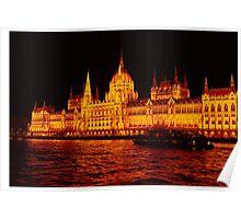 Parliament Building Budapest  Poster