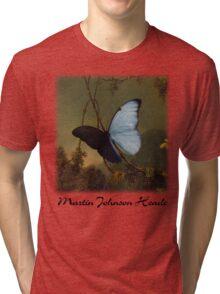 Martin Johnson Heade - Blue Morpho Butterfly Tri-blend T-Shirt