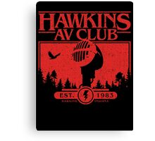 Hawkins AV Club Canvas Print