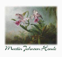 Martin Johnson Heade - Orchid and Hummingbirds One Piece - Short Sleeve