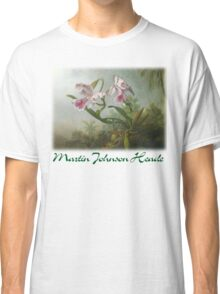 Martin Johnson Heade - Orchid and Hummingbirds Classic T-Shirt
