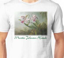 Martin Johnson Heade - Orchid and Hummingbirds Unisex T-Shirt