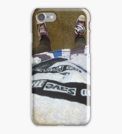 Purple sneakers punk rock shot iPhone Case/Skin