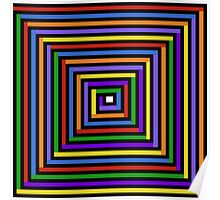 Rainbow Square Spiral Poster