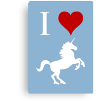 I Love Unicorns Canvas Print