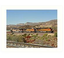 BNSF # 7357 at Cajon Pass Art Print