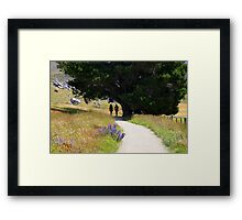 Walking To Castle Hill Framed Print