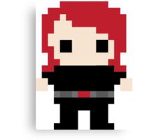 Black Widow Pixel Art Canvas Print