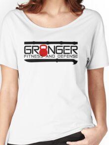 Red Full Logo for Granger Fitness and Defense  Women's Relaxed Fit T-Shirt