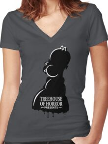 Treehouse Of Horror Women's Fitted V-Neck T-Shirt