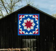 Kentucky Barn Quilt - Carpenters Wheel Sticker