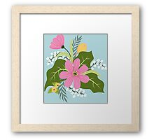 Blooming colorful composition Framed Print