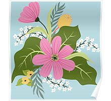 Blooming colorful composition Poster