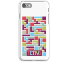 Tetris with pop colors (version with title) iPhone Case/Skin