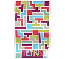 Tetris with pop colors (version with title) Poster