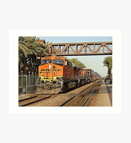 BNSF # 7644 at Fullerton Art Print