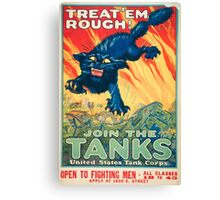 Army Recruiting Poster - World War I Canvas Print