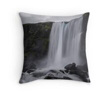 Boring waterfall Throw Pillow