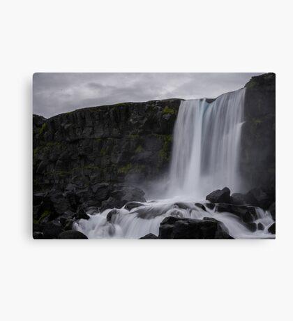 Boring waterfall Canvas Print