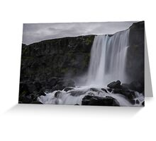Boring waterfall Greeting Card