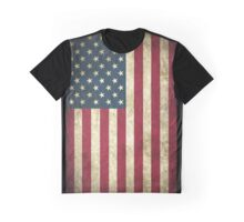 Weathered American Flag Graphic T-Shirt
