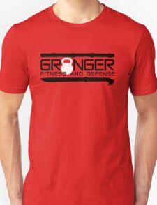 Granger Fitness and Defense Black with White KB Unisex T-Shirt