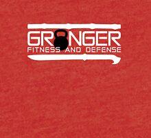 Granger Fitness and Defense White with Black KB Tri-blend T-Shirt