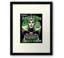The Evil Queen's Apple Bites Framed Print