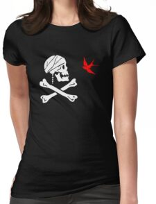 The Flag of Captain Jack Sparrow Womens Fitted T-Shirt