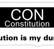 My Dump Stat - Constitution Sticker