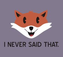 What the Fox Didn't Say by NevermoreShirts