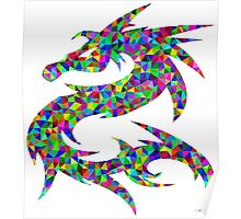 Rainbow Pixel Dragon Poster