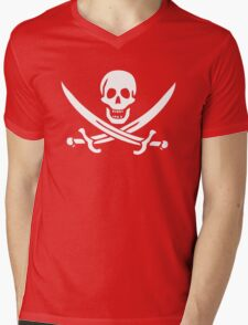 Flag of Calico Jack Rackham Mens V-Neck T-Shirt