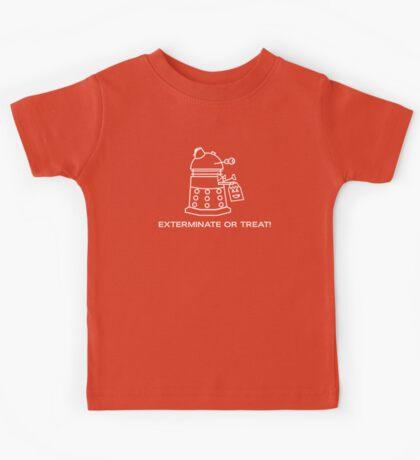 Exterminate or Treat!!! - Dark Shirt Kids Tee