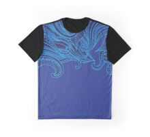 Blue, Abstract, Boho Graphic T-Shirt