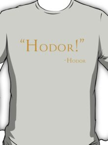 And Now, a Word From Hodor T-Shirt