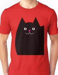Pink and Black Cat Unisex T-Shirt