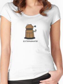 Li'l Dalek Women's Fitted Scoop T-Shirt