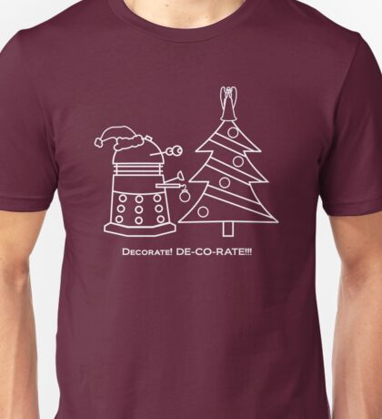 A Very Dalek Christmas - Dark Unisex T-Shirt