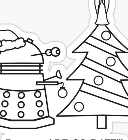 A Very Dalek Christmas - Light Sticker