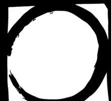 Postcss black Sticker