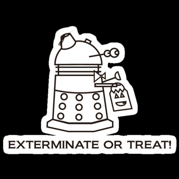 Exterminate or Treat!!! - Light Shirt by NevermoreShirts